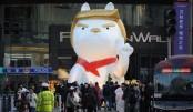 China mall erects giant Trump dog statue