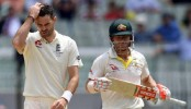 Ashes: England frustrated by David Warner, Steve Smith and rain