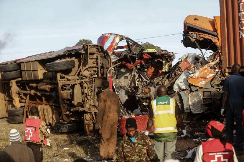 Crash between truck and bus in Kenya kills at least 36 (Video)