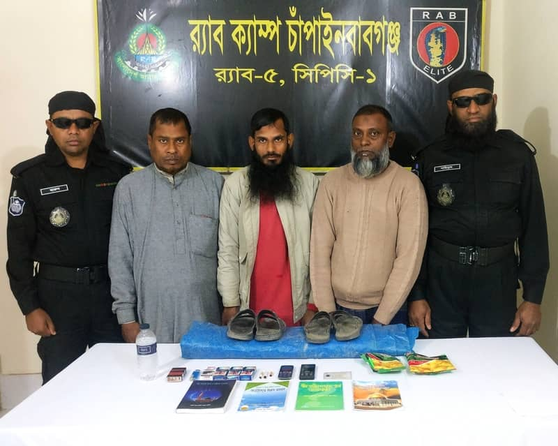 3 'JMB men' held in Chapainawabganj