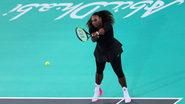 Serena loses in exhibition comeback after giving birth