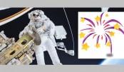 Astronauts' new year celebration