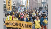 Anti-Beijing protesters march in Hong Kong