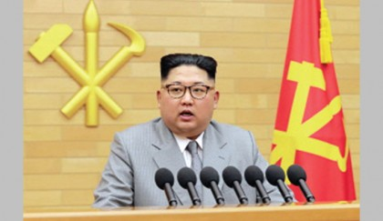 Kim threatens US but shows olive branch to S Korea