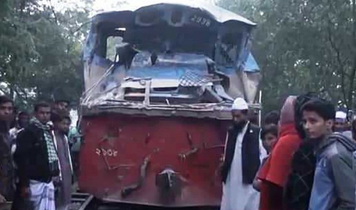 Train, covered van collision kills 2 in Gazipur