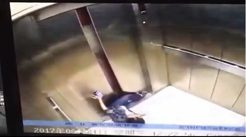 Woman has her leg cut off after getting stuck between elevator's closing doors