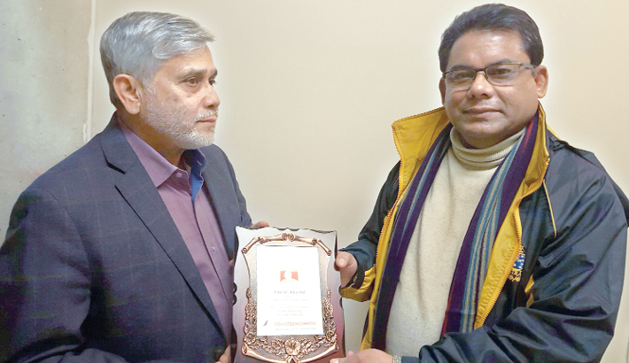 Singer Kamal receives FOBANA Award