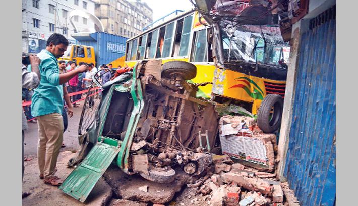 Road collision at Dhaniala Para