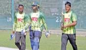 Practice session at Sher-e-Bangla National Cricket Stadium