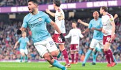 Aguero lifts City, Stoke crash in FA Cup
