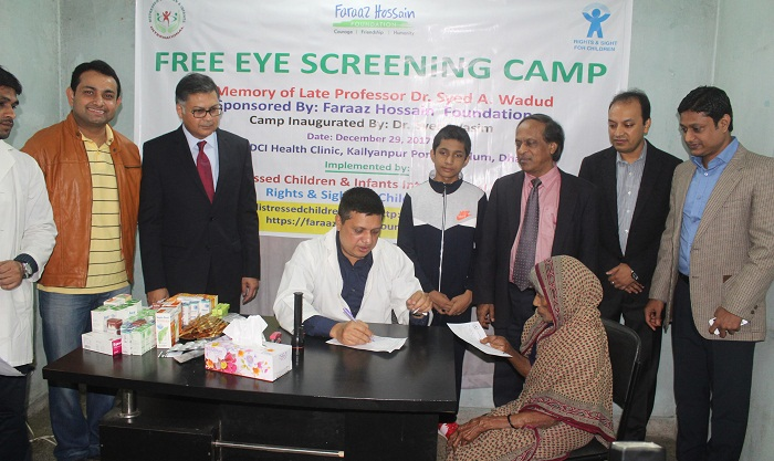 Free eye screening camp held at Kallyanpur slum