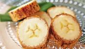 Banana with edible skin