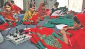 Embroidery works change lot of distressed women