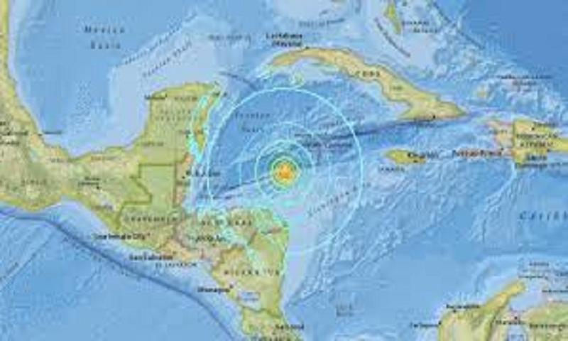 Magnitude 7.6 quake hits in Caribbean north of Honduras