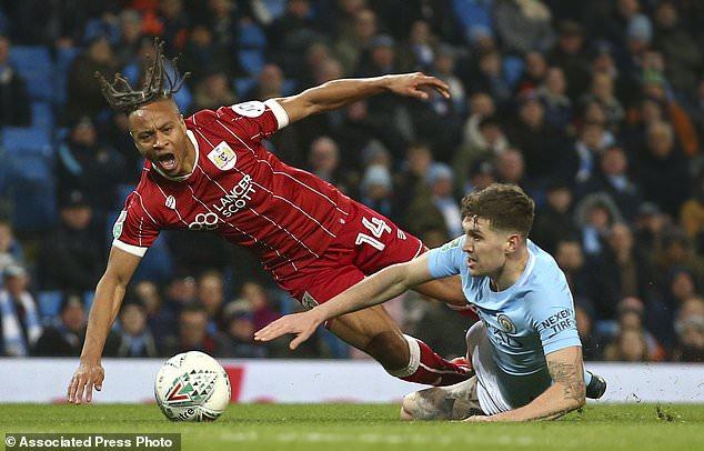 Man City grabs 2-1 lead vs Bristol City in League Cup semis