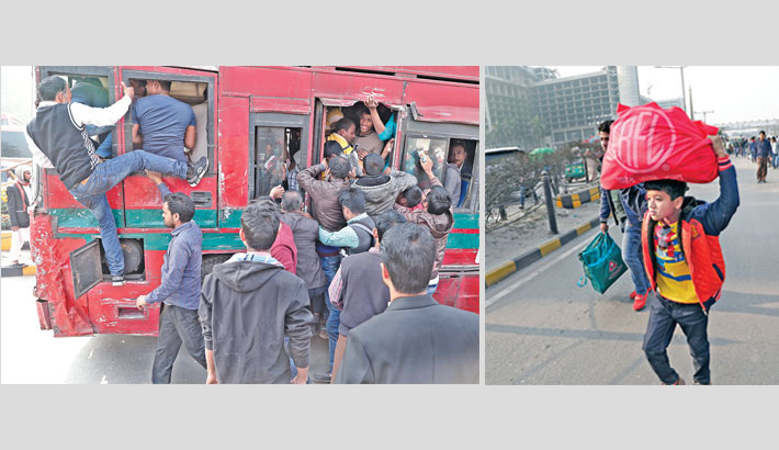 Untold sufferings due to shortage of public transports