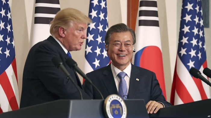 Trump tells Seoul he's open to talks with North Korea