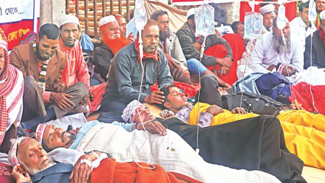 Hunger Strike Day 4: Nine more madrasa teachers fall sick
