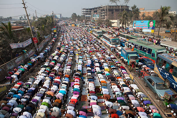 Lakhs of Muslims attend Juma prayers at Ijtema ground
