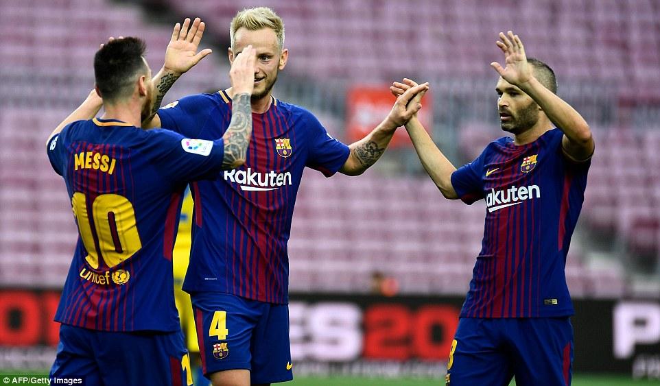 Messi nets 2 as Barca beats Celta 5-0 to reach Copa quarters