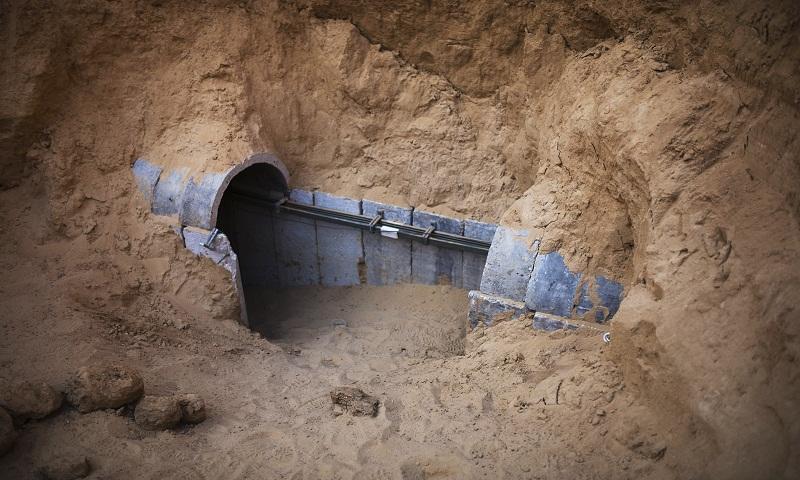 Israel destroys tunnel from Gaza