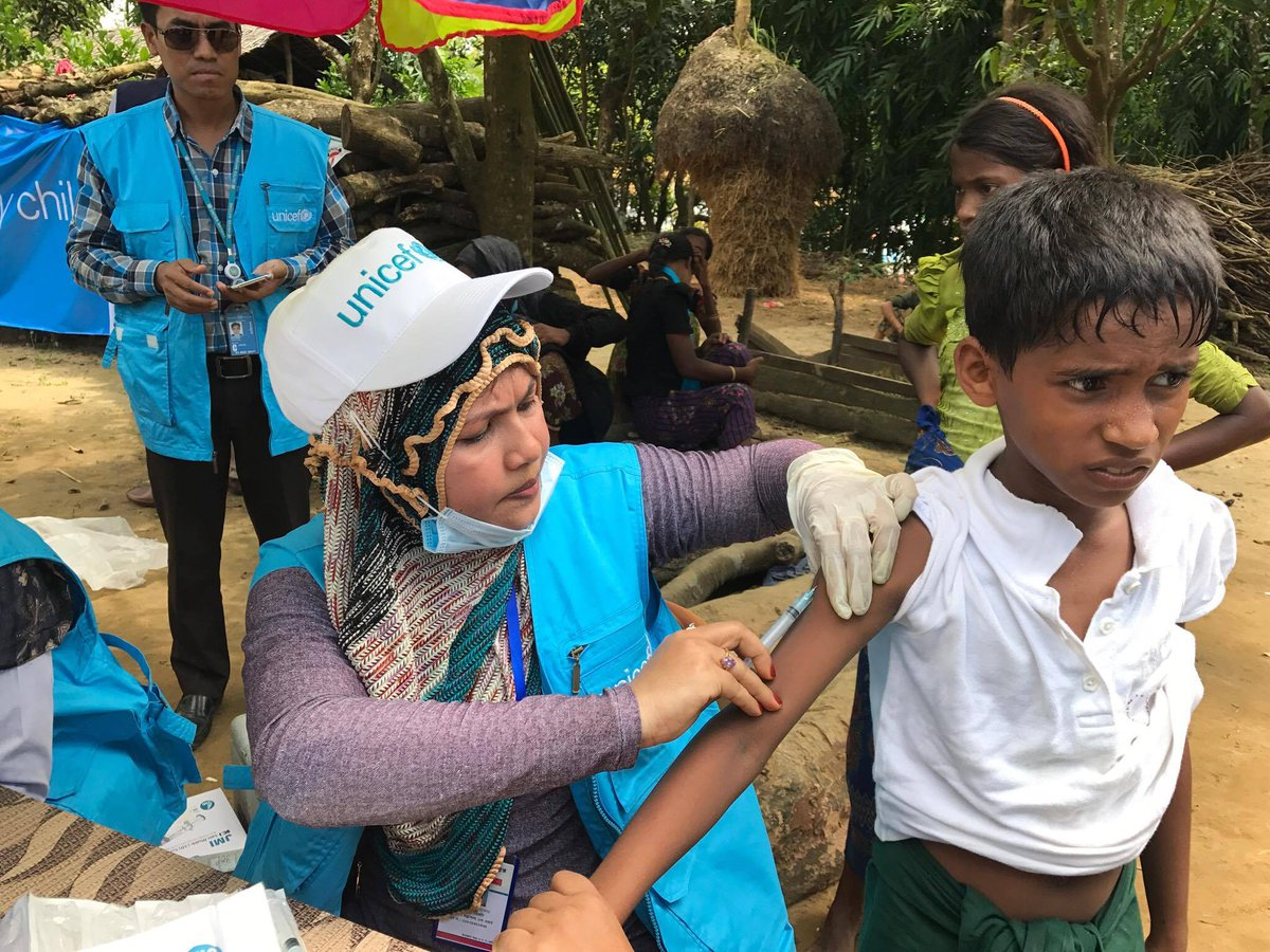 475,000 children being vaccinated in Cox's Bazar