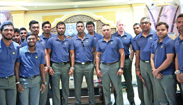 Sri Lanka cricket team arrive in city