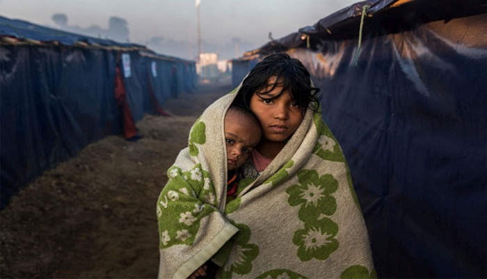 Bone-chilling cold hits Rohingyas hard
