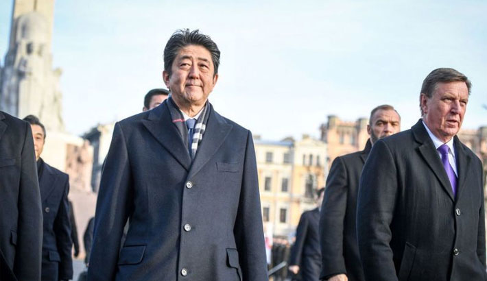 Japan PM seeks Baltic support against North Korea