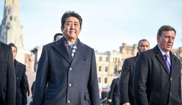 Japan PM seeks Baltic support against North Korea