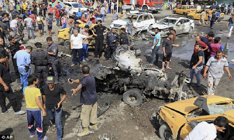 Double suicide bombing in Baghdad kills at least 16 people