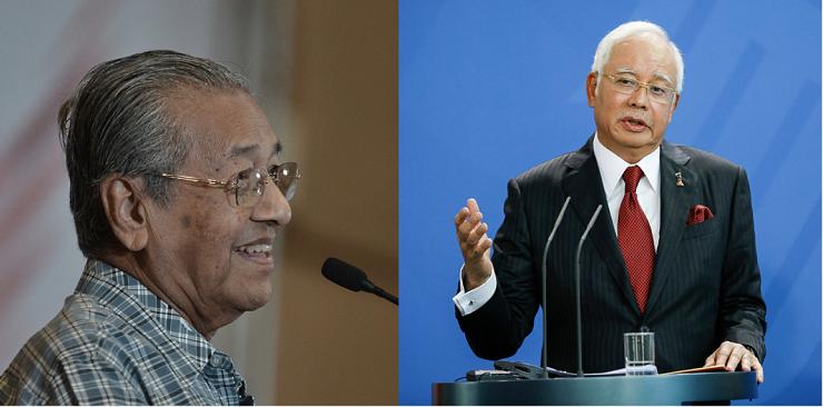 Malaysia's Najib takes pop at Mahathir on Singapore trip