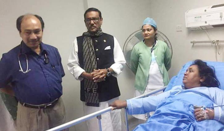 Obaidul Quader visits ailing Narayanganj City Corporation mayor Ivy