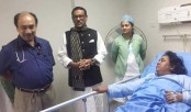 Obaidul Quader visits ailing Narayanganj City Corporation mayor Ivy