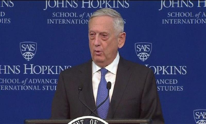 Mattis: US national security focus no longer terrorism