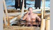 Putin takes ritual dip in icy water
