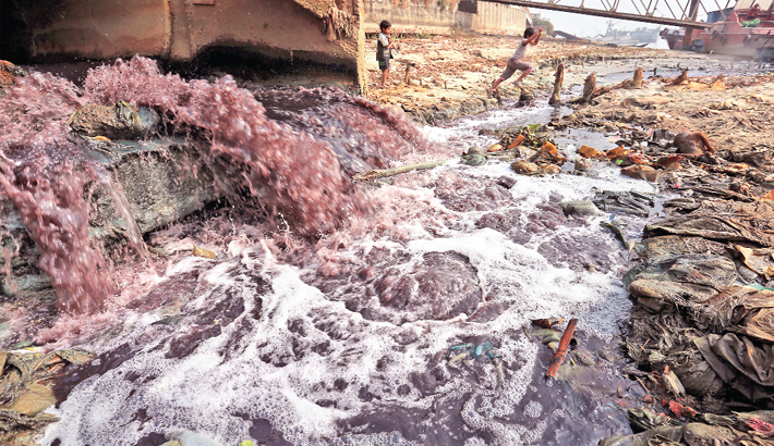 Toxic effluents from dyeing factories
