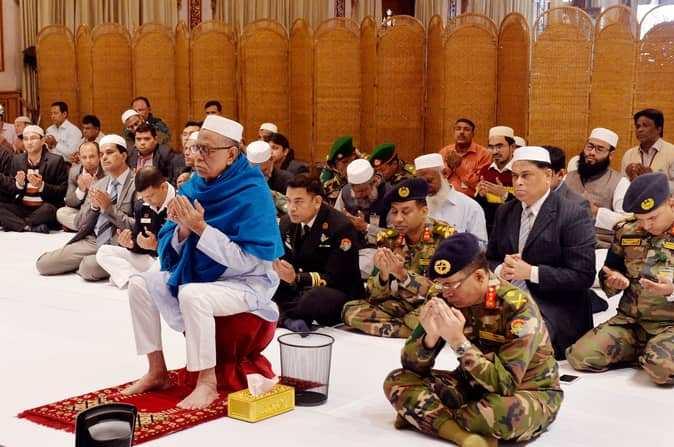 President joins Akheri Munajat from Bangabhaban