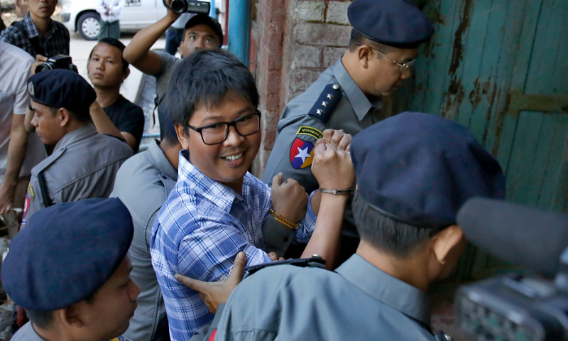 Reuters journalists in court over charges Myanmar secrecy law
