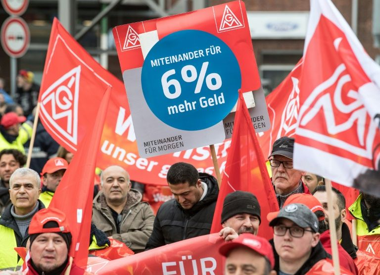 Europe watches as German unions battle for more pay