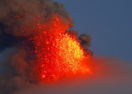 Philippine's Mount Mayon volcano spreads lava almost 2 miles from crater