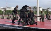 Indonesian troops drink blood from headless snakes for Mattis (Video)