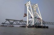 2nd span installed, 300 meters of Padma Bridge now visible