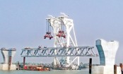 Installation of 2nd span on Padma Bridge today