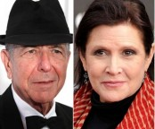 Carrie Fisher and Leonard Cohen win posthumous Grammys