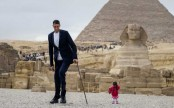 In pictures: When the world's tallest man met the world's shortest woman