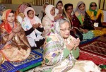 Prime Minister in Sylhet, offers fateha at shrines