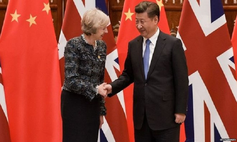 Theresa May unveils education deal at start of China visit