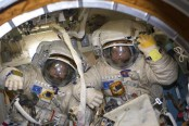 Record-setting spacewalk ends with antenna in wrong spot