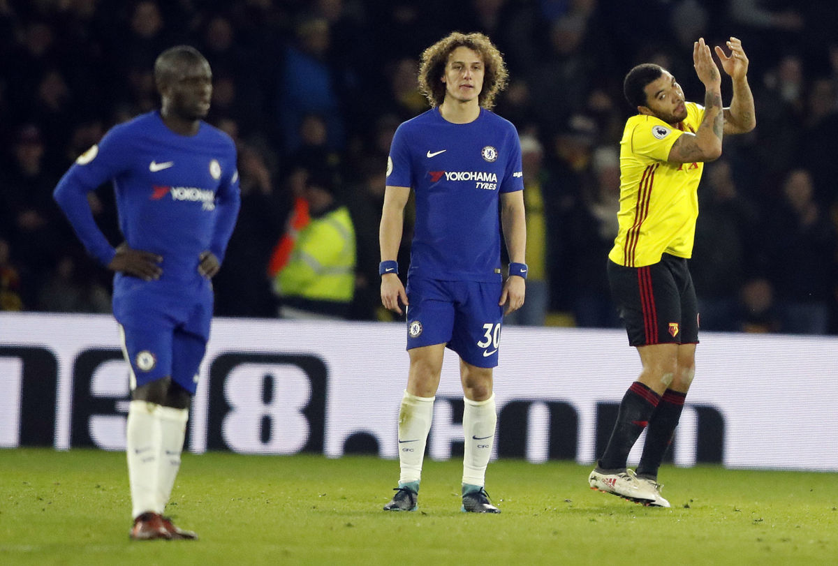 Watford crushes 10-man Chelsea 4-1 in EPL